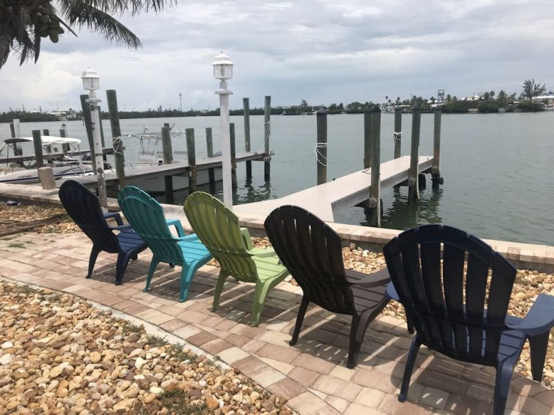 waterfront Key Colony Beach vacation rental with boat dock