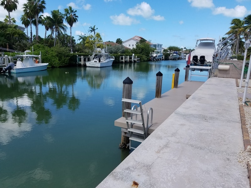 Key Colony Beach Florida vacation rental with boat dock