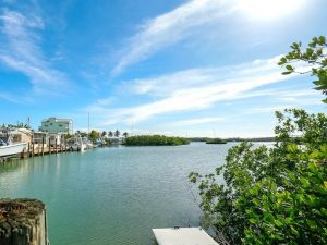 water view from vacation rental house in marathon Florida Keys