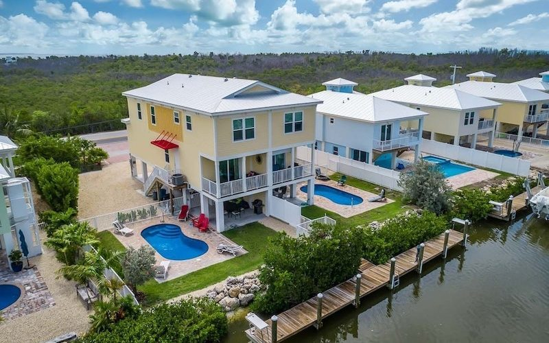 waterfront vacation rental house in Sombrero Beach marathon FL Keys